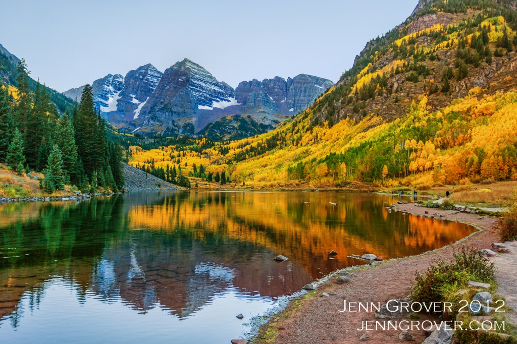Evening at Maroon Bells