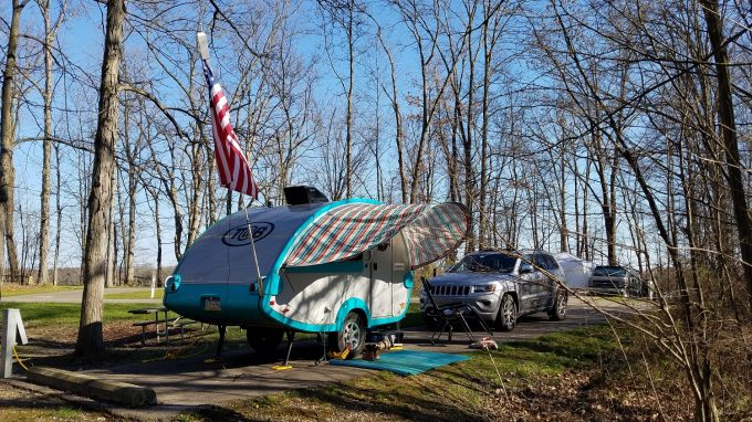 Spring Camping at West Branch State Park in NE Ohio